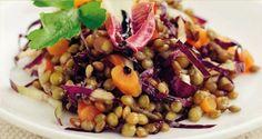 Ricetta di Insalata di lenticchie, trevisana e carotine #Star #ricette #food #recipes #insalata #lenticchie #verdure