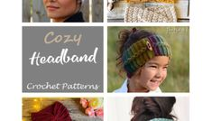 13 Crochet Ear Warmer Patterns – Keep Warm - A More Crafty Life Crochet Ear Warmer Pattern, Crochet Neck Warmer, Crochet Mandala Pattern, Crochet Headband Pattern, Knitted Headband, Crochet Headbands, Crochet Borders, Celtic Knot Headband, Twist Headband