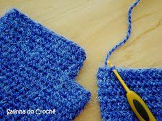 Finalmente consegui fazer um PAP de uma luva básica de crochê com dedinhos de fora. Cheguei nesse resultado depois de tanto fazê-las. Acho e...