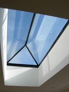 Frameless Roof Lantern = Maximum Light