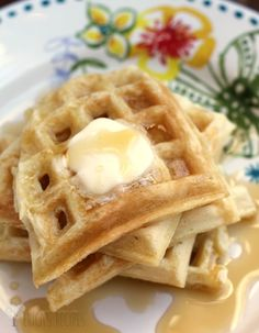 Sunday Morning Buttermilk Waffles **reducing salt and making buttermilk for less salt