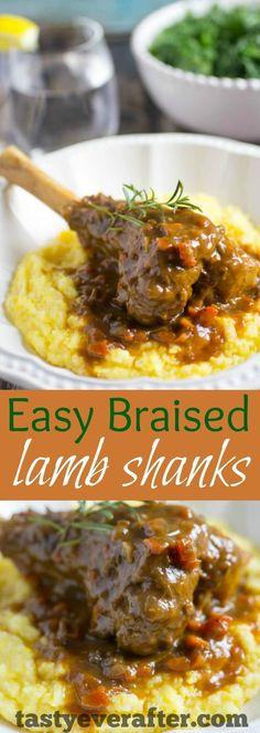 Easy Braised Lamb Shanks Recipe