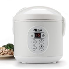 Aroma 8-Cup (Cooked) Digital Rice Cooker and Food Steamer, White Aroma http://smile.amazon.com/dp/B007WQ9YNE/ref=cm_sw_r_pi_dp_WjUQub0W9FQYM