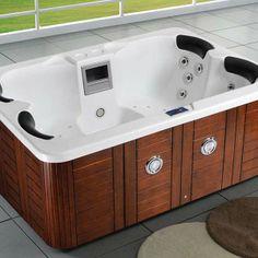"""Spa """"Fidji"""" 4 places - Cuve blanc - système Balboa + station d'Iphone intégré - 210x152x81 cm"""