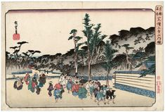 """Utagawa Hiroshige I 歌川広重 """"Inside Zōjō-ji Temple in Shiba"""" from the series """"Famous Places in the Eastern Capital,"""" about 1832–38 「東都名所 芝増上寺山内ノ図」"""