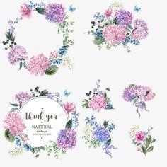 Vector colored bouquet wreath, Wreath, Flower Garlands, Flowers PNG and Vector Art Floral, Motif Floral, Floral Border, Flower Frame, Flower Art, Flower Bouquet Png, Cartoon Flowers, Decoupage Vintage, Vector Flowers