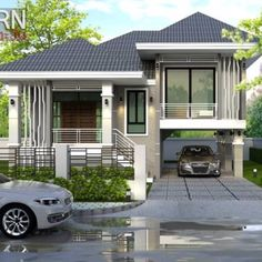 This Captivating Split-level House may be the House you are Looking for - Cool House Concepts Modern Bungalow House Design, Modern Bungalow Exterior, Duplex House Design, Simple House Design, Dream House Exterior, Bungalow Designs, Stilt House Plans, My House Plans, Bungalow House Plans