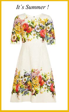 Die for Style: I wish....this summer dress by Dolce & Gabbana!