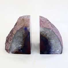 Agate Crystal Book Ends by Serpent and the Swan for TMOD Treasures http://tmod.com.au/product/agate-crystal-book-ends-1