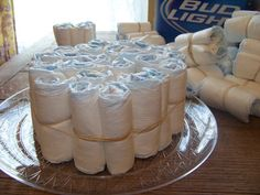 beer diaper cake baby shower | ... to make a diaper cakes. His & Hers Baby Shower Diaper Cake - Step 2