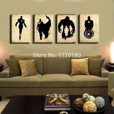 The Avengers! abstract handpainted black canvas poster painting superheroes Marvel Comics movies hero canvas art! New arrival!-in Painting & Calligraphy from Home & Garden on Aliexpress.com | Alibaba Group