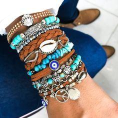 Shell Jewelry, Boho Jewelry, Beaded Jewelry, Jewelery, Beach Bracelets, Beaded Wrap Bracelets, Handmade Bracelets, Dream Catcher Jewelry, Summer Jewelry