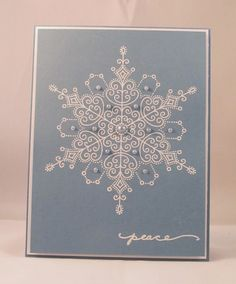 Paper Inkspirations: Christmas in July #Stampendous #delicatesnow