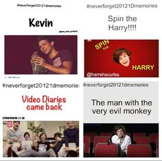 #Neverforget20121Dmemories Video Diaries and Spin the Harry!