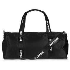 Ivy Park Ivy Park Logo Holdall (620 MXN) ❤ liked on Polyvore featuring bags, luggage and black