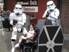The force is strong with this one: Lauren Byrd accessorizes with stormtroopers in this 2013 photo.