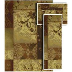 Oriental Weavers Tao Amelia Multi 4 ft. 11 in. x 7 ft. 3 Piece Rug Set-25417 at The Home Depot