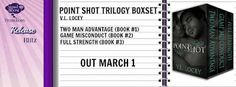 Point Shot Trilogy (box set) by V.L. Locey - @vllocey, @debbiereadsbook - Debbie, @SignalBoostPR, #Comedy, #Contemporary, #M_M, #Romance, 5 out of 5 (exceptional) - March
