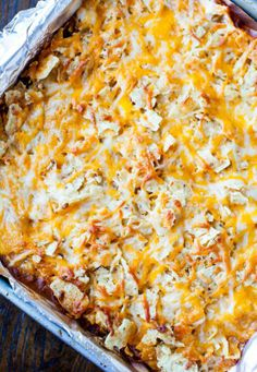 Chips and Chili Cheese Casserole.