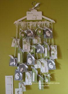 calendrier_pochettes_1 Yule, Home And Deco, Xmas, Christmas, Advent Calendar, Holiday Decor, Preschool Ideas, Scrap, Home Decor