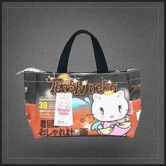 Sac à main Tenshi Neko le chat. Un très chouette sac à main pour femme à l'effigie du petit neko kawaii.