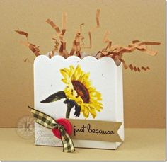 Sunflower Treat Bow by Tammy using Multi Step Sunflowers form Kitchen Sink Stamps.