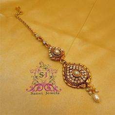 Shop for latest fashion Jewellery Designs at Craftsvilla. Tika Jewelry, Jewelry Shop, Gold Jewelry, Jewelry Design, Fashion Jewelry, Women's Fashion, Traditional Indian Jewellery, Indian Jewelry, Gold Designs