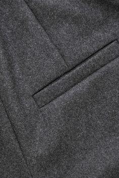 WOOL-BLEND LONG SHORTS - Dark grey melange - Shorts - COS Cos Shorts, Tailored Shorts, Dark Grey, Wool Blend, Women Wear, Products, Gadget