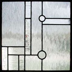Custom leaded glass window window Frank Lloyd Wright inspired