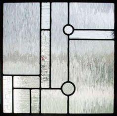 Custom leaded glass window window Frank Lloyd Wright inspired