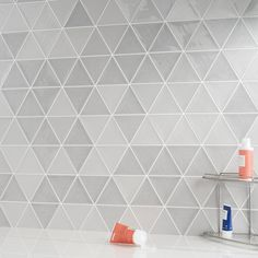 Shop TileBar for the largest selection of mosaics and tiles for any wall or floor or entire project. From backsplash and kitchen tile to bathroom and pool tile, with fast, low-cost shipping and 365 day returns. Glazed Ceramic Tile, Ceramic Wall Tiles, Mosaic Tiles, Tiling, Grey Wall Tiles, Decorative Wall Tiles, Geometric Tiles, Tile Floor, Triangle
