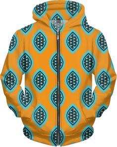 $89.99 Orange and Blue Tribal Hoodie #Saytoons on Rageon! https://www.rageon.com/products/african-tribal-pattern-hoodie on RageOn!