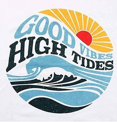 Good Vibes Shirt, Retro Surf, Funny Letters, Homemade Stickers, Rainbow Print, Surf Art, Aesthetic Stickers, Graphic Prints, Graphic Art