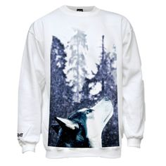 Winter Wolf Sweatshirt  #giftsforhim #giftideasformen #wolf #winterwear #winter #fashion #style #streetstyle