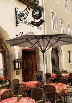 European Cafe, love the entrance and that you can sit outside