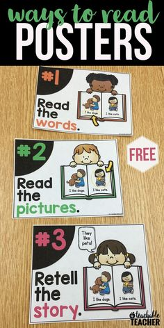 There is more than one way to read a book! These free classroom posters are perfect for any primary classroom decor. | free printable posters | tpt printables | class organization | reading posters free | teaching tips | reading fluency | reading anchor c