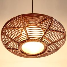 Hand-woven Wavy-shaped Bird Nest Rattan Pendant Lights-Ceiling ...