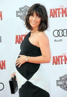 Pregnant Evangeline Lilly at Ant-Man Premiere   Photos   POPSUGAR Celebrity