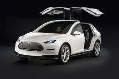 #Tesla's #Model_X #crossover's #gullwing_doors. Find more details about this vehicle and more cars for sale on www.repokar.com.