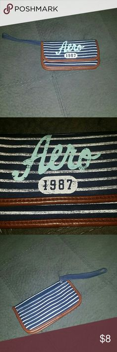 NWOT! Aero wallet! This is new, never use! In excellent condition! I bundle under 5 lb packages! If I have to upgrade the label, factor that into the price especially if you're sending an offer! Posh double dips and charges me the entire shipping amount as well as charging the buyer the standard rate. No trades, smoke-free, pug friendly, and I typically ship same or next day Aeropostale Bags Wallets