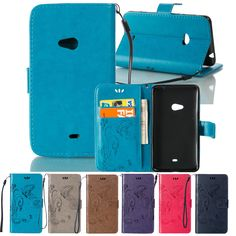 New Embossing Pattern Wallet Leather Case for Nokia Lumia 625 Flip Cover for Lumia 625 Cases with Stand and Card Holder Bag