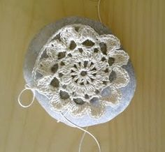 How To Crochet A Lace Covered Stone Tutorial