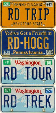 License plates could make a good visual theme too :)