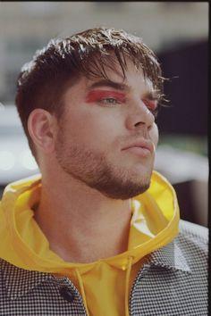 new adam lambert album 6 -Adam Lambert in Wonderland magazine Runway Hair, Runway Makeup, Makeup Inspo, Makeup Inspiration, Androgynous Makeup, Euphoria Men, Male Makeup, Guys Makeup, Makeup Man