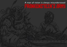 "Fanart of Richard Raaphorst's 2013 movie ""Frankenstein's Army"". Artwork by Burak Cengiz."