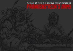 """Fanart of Richard Raaphorst's 2013 movie """"Frankenstein's Army"""". Artwork by Burak Cengiz."""