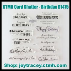 Close To My Heart Card Chatter-Birthday - Google Search