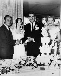 Natalie Wood & Robert Wagner...Wedding #1 In the 1950's...They Would Divorce, Remarry & Marry Again...And Her Death in 1980 Would End This Love Affair...