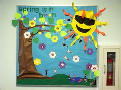 Spring bulletin board, made the students a part of the board.