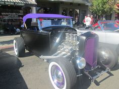 Dark purple car